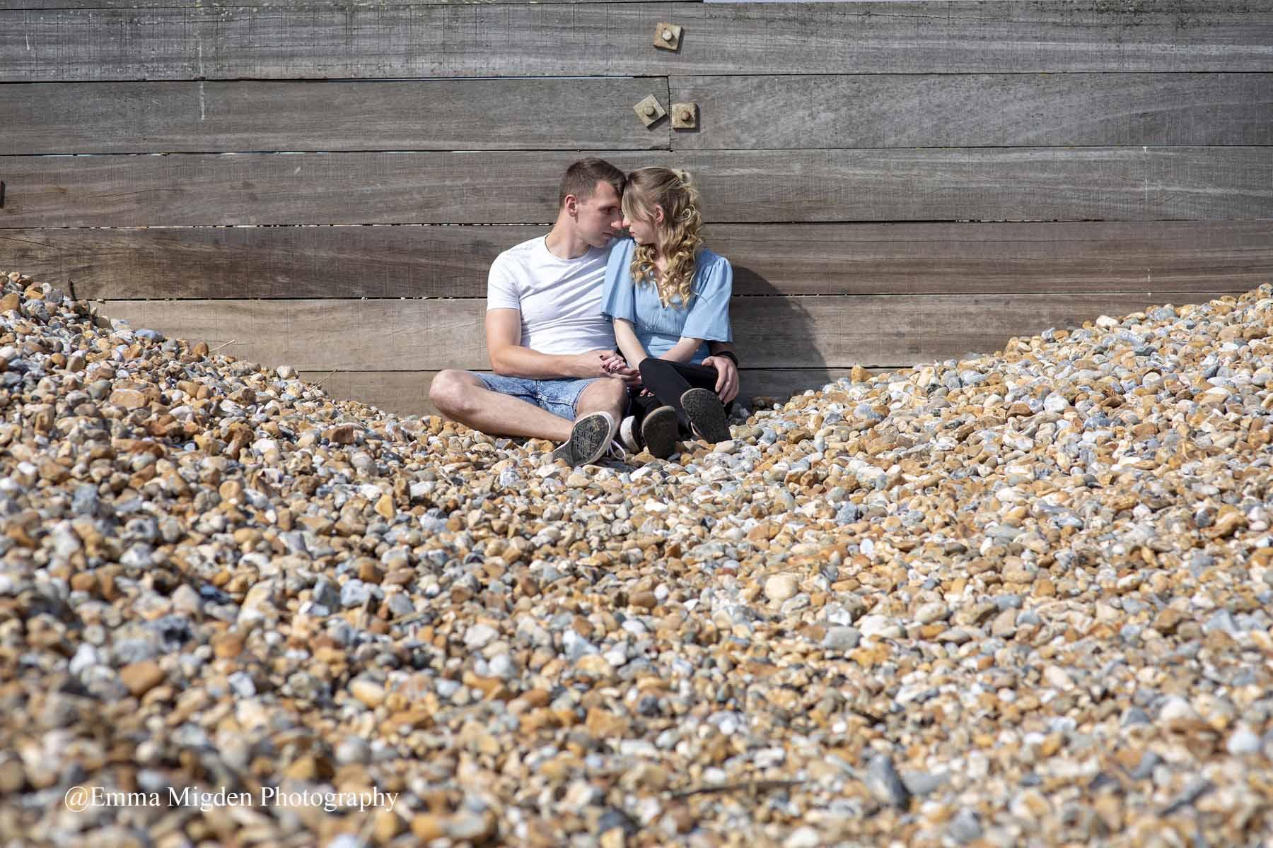 Tankerton Beach//Engagement Shoot//Emma Migden Photography